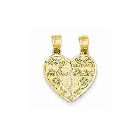 14k 2 Piece Break-apart Big Sister & Little Sister Charm - shopvistar