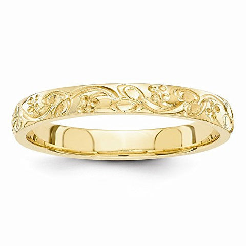 14k Hand Engraved Wedding Band, Best Quality Free Gift Box Satisfaction Guaranteed - shopvistar