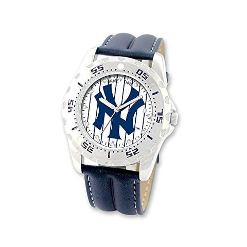 Mens MLB NY Yankees Pinstripe Champion Watch, Best Quality Free Gift Box Satisfaction Guaranteed - shopvistar