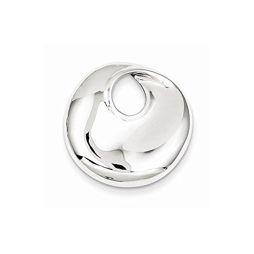 Sterling Silver Circle Slide, Best Quality Free Gift Box Satisfaction Guaranteed - shopvistar