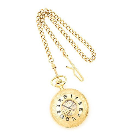 Charles Hubert Gold-plated White Dial Pocket Watch, Best Quality Free Gift Box Satisfaction Guaranteed - shopvistar
