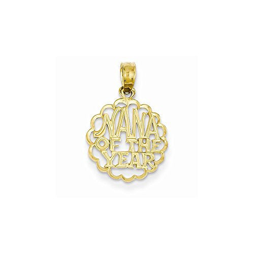 14k Nana Of The Year Pendant, Best Quality Free Gift Box Satisfaction Guaranteed - shopvistar