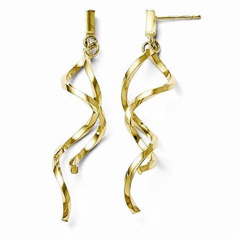 Leslie's 10k Polished Twisted Post Dangle Earrings - shopvistar