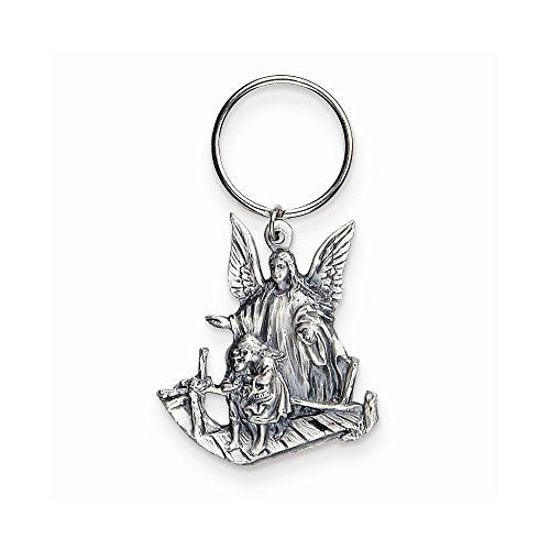 Guardian Angel Pewter Keychain - shopvistar