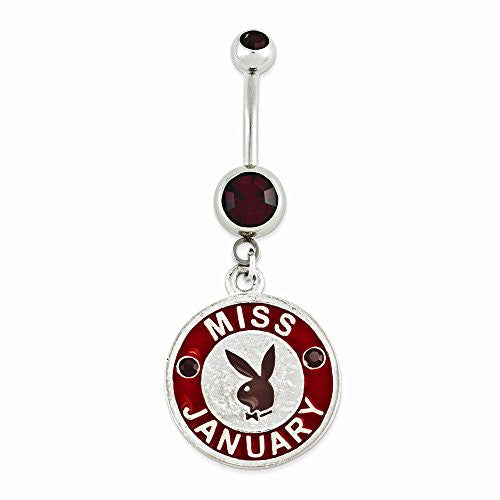 Playboy Miss January Belly Ring - shopvistar