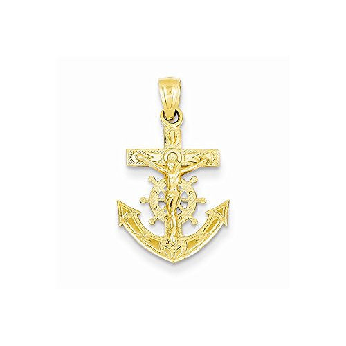 14k Mariners Crucifix Pendant, Best Quality Free Gift Box Satisfaction Guaranteed - shopvistar