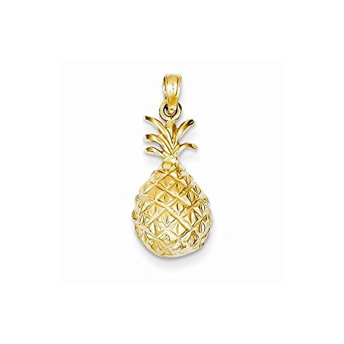 14k Dia-Cut Pineapple Pendant, Best Quality Free Gift Box Satisfaction Guaranteed - shopvistar