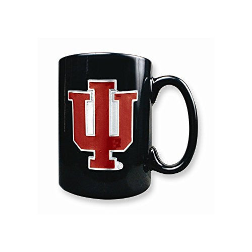Indiana University 15oz Black Ceramic Mug - shopvistar