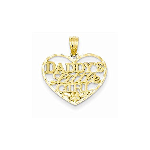 14k D/c Daddys Little Girl Heart Pendant, Best Quality Free Gift Box Satisfaction Guaranteed - shopvistar