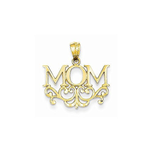14k Mom Pendant, Best Quality Free Gift Box Satisfaction Guaranteed - shopvistar