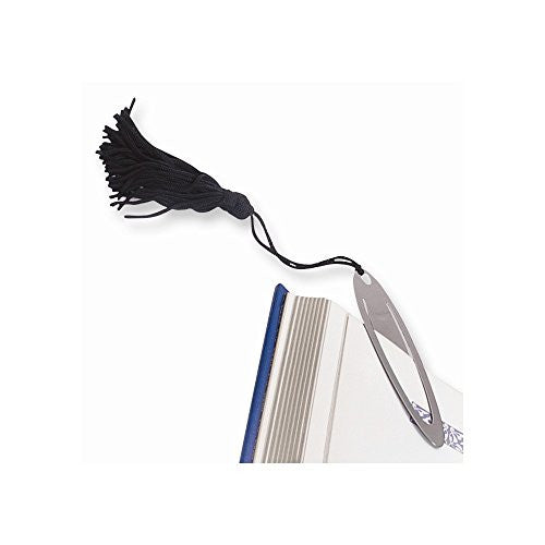 Oval Shaped Black Tassel Bookmark - shopvistar
