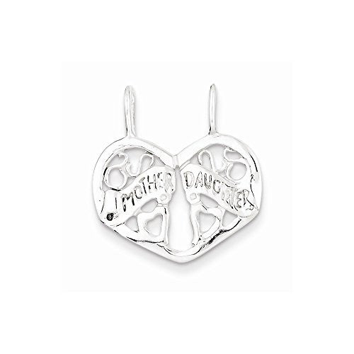 Sterling Silver Mother/daughter Break Apart Charm, Best Quality Free Gift Box Satisfaction Guaranteed - shopvistar