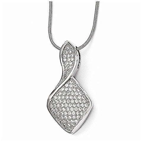 Sterling Silver & Cz Necklace by Brilliant Embers, Best Quality Free Gift Box Satisfaction Guaranteed - shopvistar