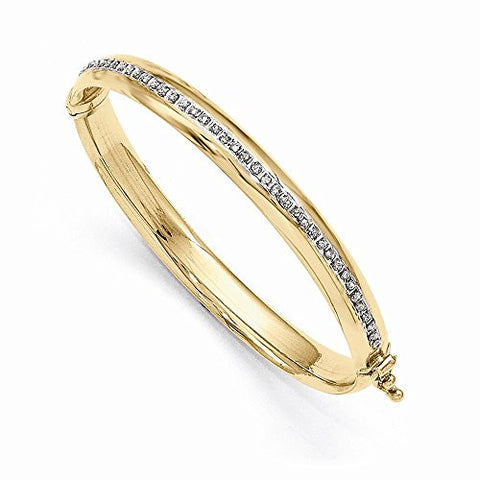 14k Diamond Fascination Hinged Baby Bangle, Best Quality Free Gift Box Satisfaction Guaranteed - shopvistar