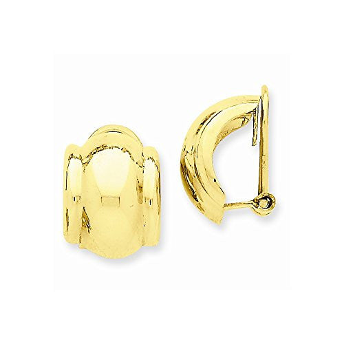 14k Omega Clip Non-pierced Earrings, Best Quality Free Gift Box Satisfaction Guaranteed - shopvistar