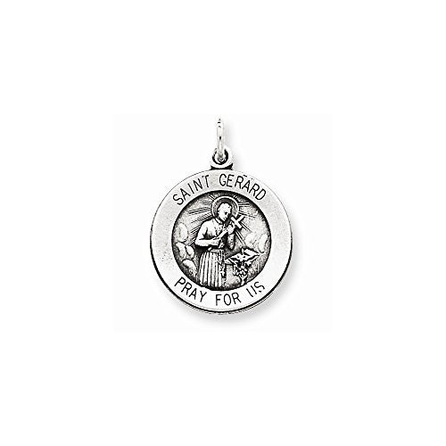 Sterling Silver Antiqued Saint Gerard Medal, Best Quality Free Gift Box Satisfaction Guaranteed - shopvistar
