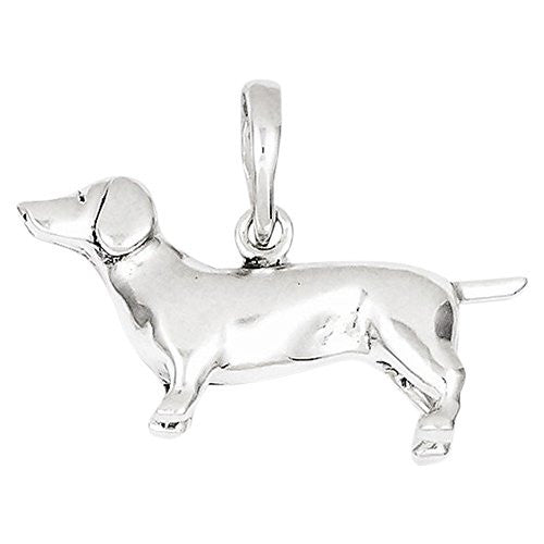 Sterling Silver Dachshund Pendant, Best Quality Free Gift Box Satisfaction Guaranteed - shopvistar