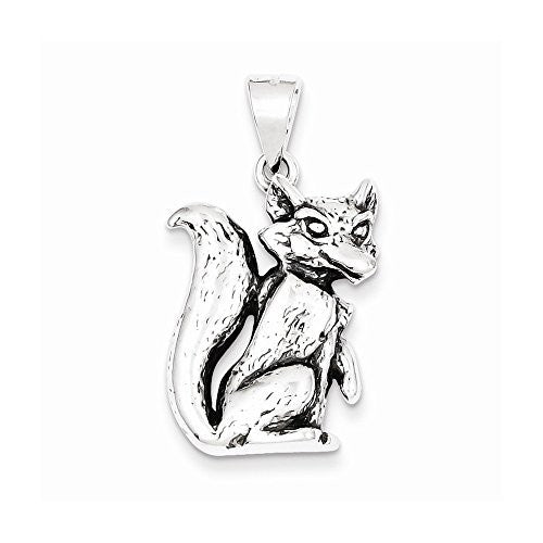 Sterling Silver Antiqued Fox Charm, Best Quality Free Gift Box Satisfaction Guaranteed - shopvistar