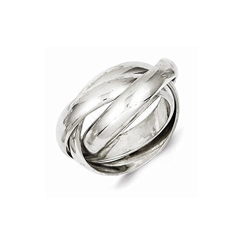 Sterling Silver Rolling Band Ring, Best Quality Free Gift Box Satisfaction Guaranteed - shopvistar
