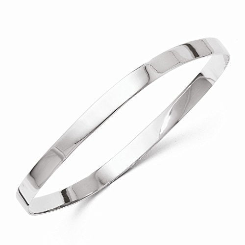 Leslies Sterling Silver Polished Square Slip-on Bangle - shopvistar