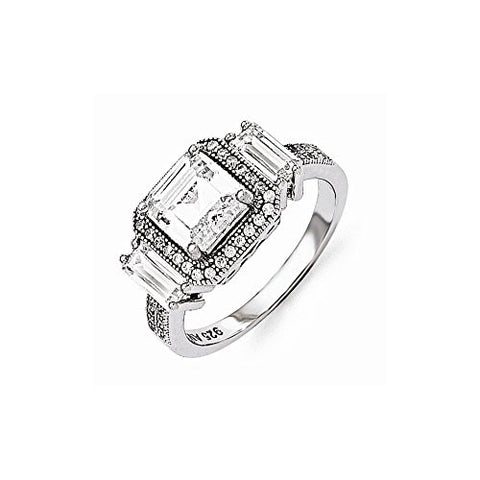 Sterling Silver & Cz Ring by Brilliant Embers, Best Quality Free Gift Box Satisfaction Guaranteed - shopvistar