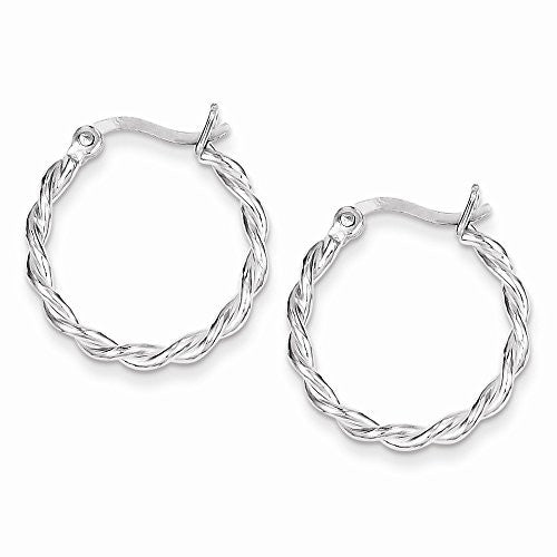 Sterling Silver Twisted Hoop Earrings, Best Quality Free Gift Box Satisfaction Guaranteed - shopvistar