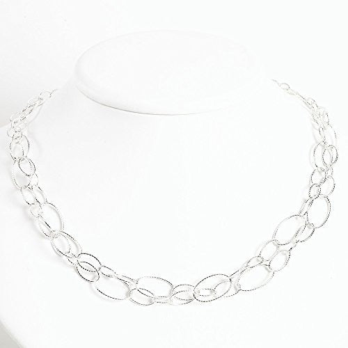 Sterling Silver Fancy Oval Link Bracelet, Best Quality Free Gift Box Satisfaction Guaranteed - shopvistar