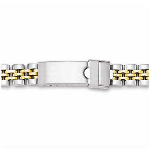 12-17mm Lady Two-tone Jubilee W/deploy Satin/mirror Watch Band - shopvistar