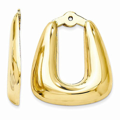 14k Polished Hoop Earring Jackets, Best Quality Free Gift Box Satisfaction Guaranteed - shopvistar