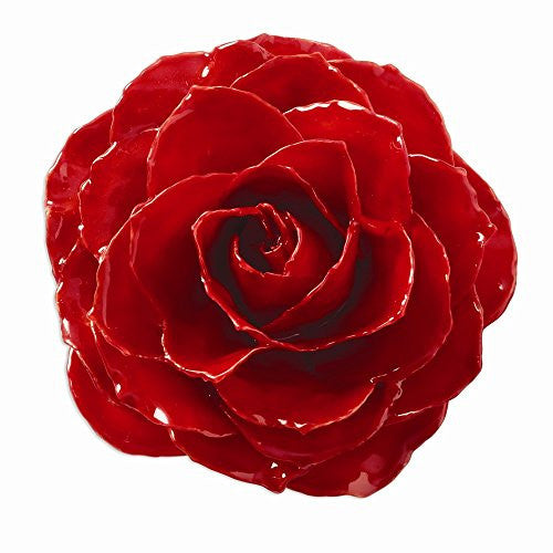 Lacquer Dipped Red Rose Brooch - shopvistar