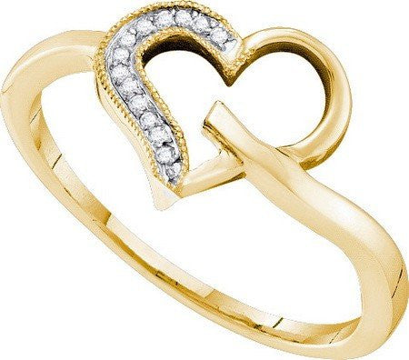 0.04ctw Diamond Heart Ring - shopvistar