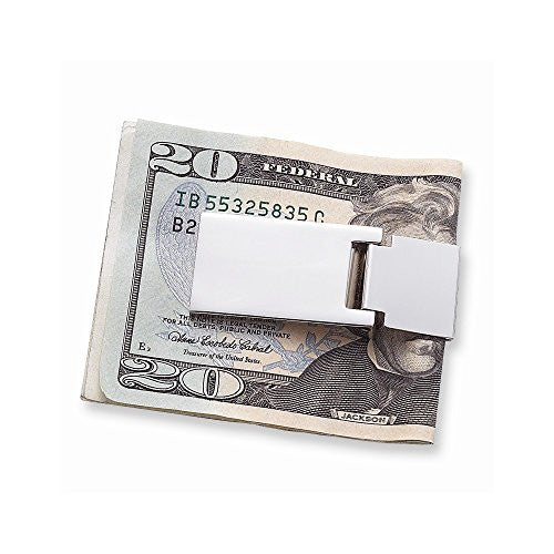 Nickel-plated Hinged Money Clip - shopvistar