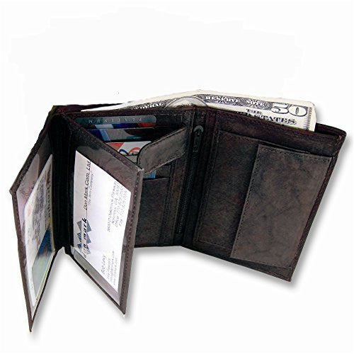 Mens Black Leather Bifold Max Wallet - shopvistar