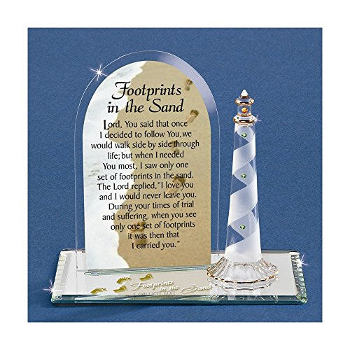 Footprints In The Sand Glass Figurine - shopvistar