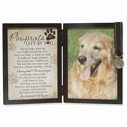 Pawprints Sentiment 5x7 Black Photo Frame with Tag - shopvistar