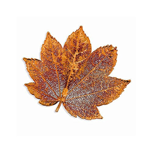 Iridescent Copper Dipped Full Moon Maple Leaf Pin - shopvistar