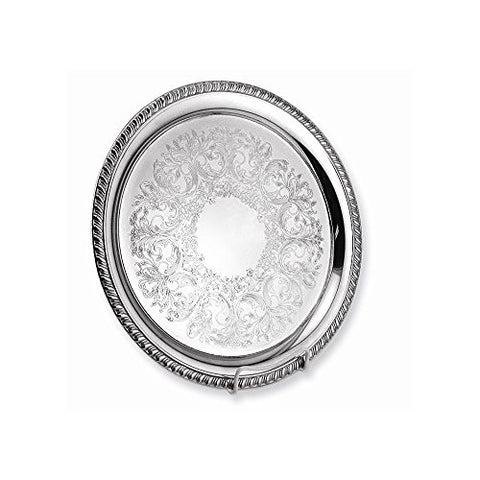 14 Silver-plated Etched Embossed Tray - shopvistar