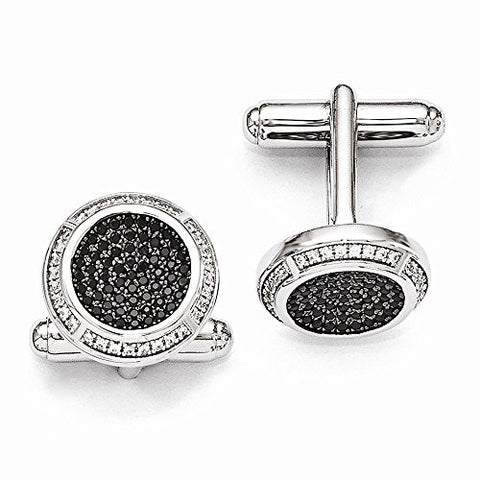 Sterling Silver & Cz Cuff Links by Brilliant Embers, Best Quality Free Gift Box Satisfaction Guaranteed - shopvistar