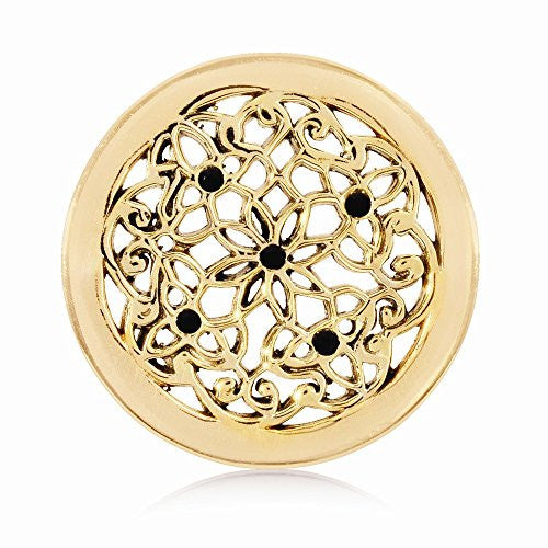 Nikki Lissoni Gold-tone 23.6mm Flower Bed Coin - shopvistar