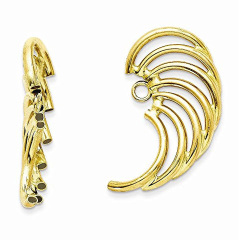 14k Polished Swirl Shaped Earring Jackets, Best Quality Free Gift Box Satisfaction Guaranteed - shopvistar