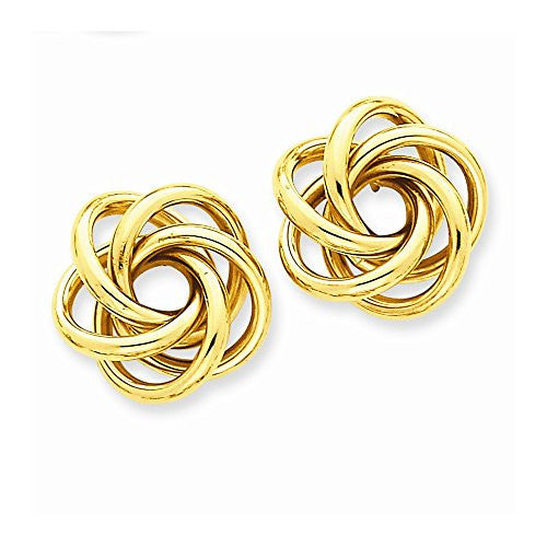 14k Love Knot Earrings, Best Quality Free Gift Box Satisfaction Guaranteed - shopvistar