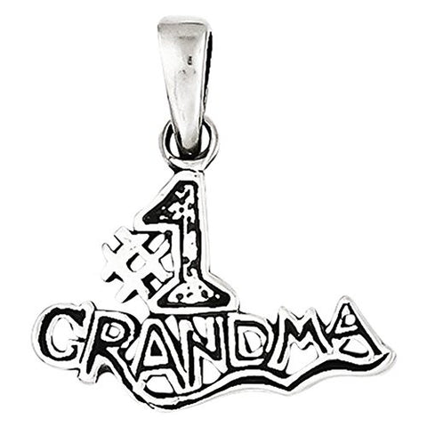 Sterling Silver 1 Grandma Pendant, Best Quality Free Gift Box Satisfaction Guaranteed - shopvistar