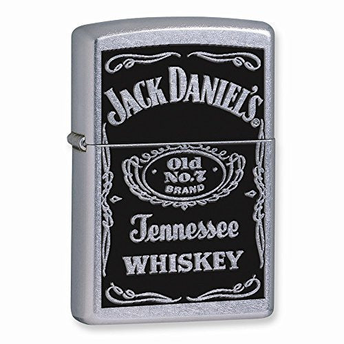 Zippo Jack Daniels Label Street Chrome Lighter - shopvistar
