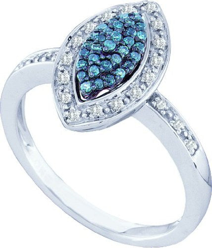 0.25ctw Blue Diamond Fashion Ring - shopvistar