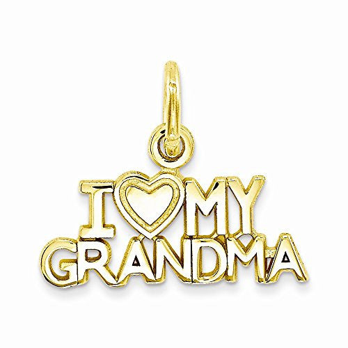 14k I Love My Grandma Charm, Best Quality Free Gift Box Satisfaction Guaranteed - shopvistar