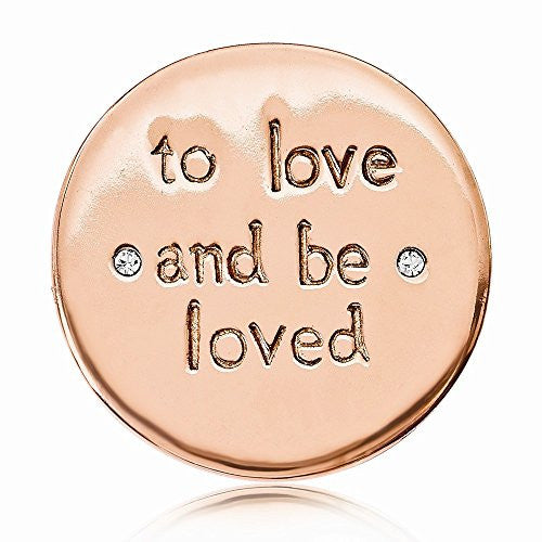 Nikki Lissoni Rose-tone To Love And Be Loved Crystal Small Coin - shopvistar
