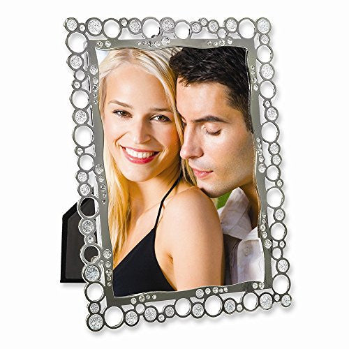 Silver-plated Metal Bubbles 5x7 Photo Frame - shopvistar