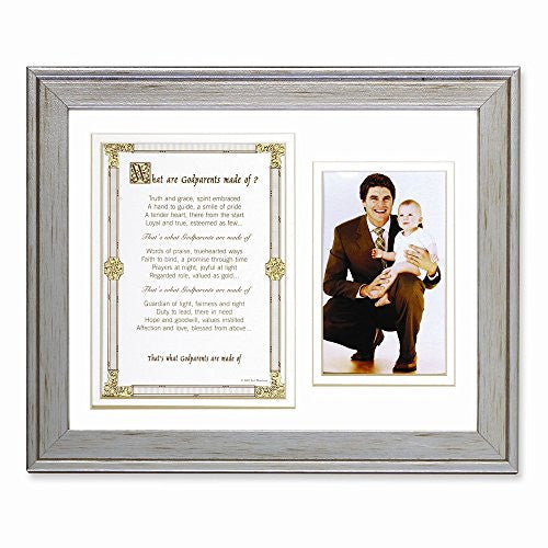 What Are Godparents Made of Poem and 8x10 Photo Frame - shopvistar