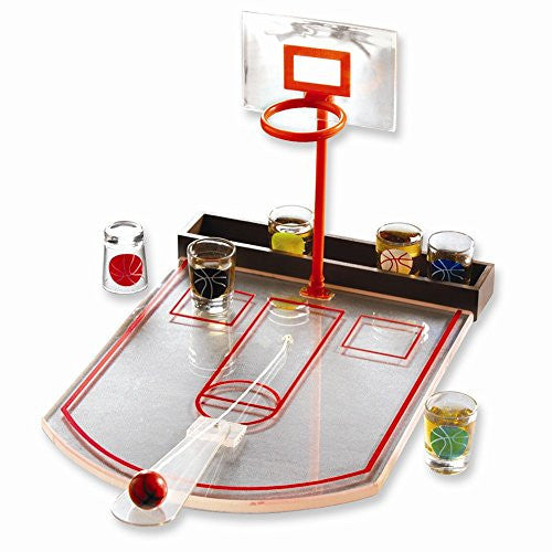 Drinking Basketball Game with 6 Shot Glasses - shopvistar