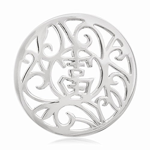 Nikki Lissoni Silver- tone 33mm Chinese Lucky Coin - shopvistar